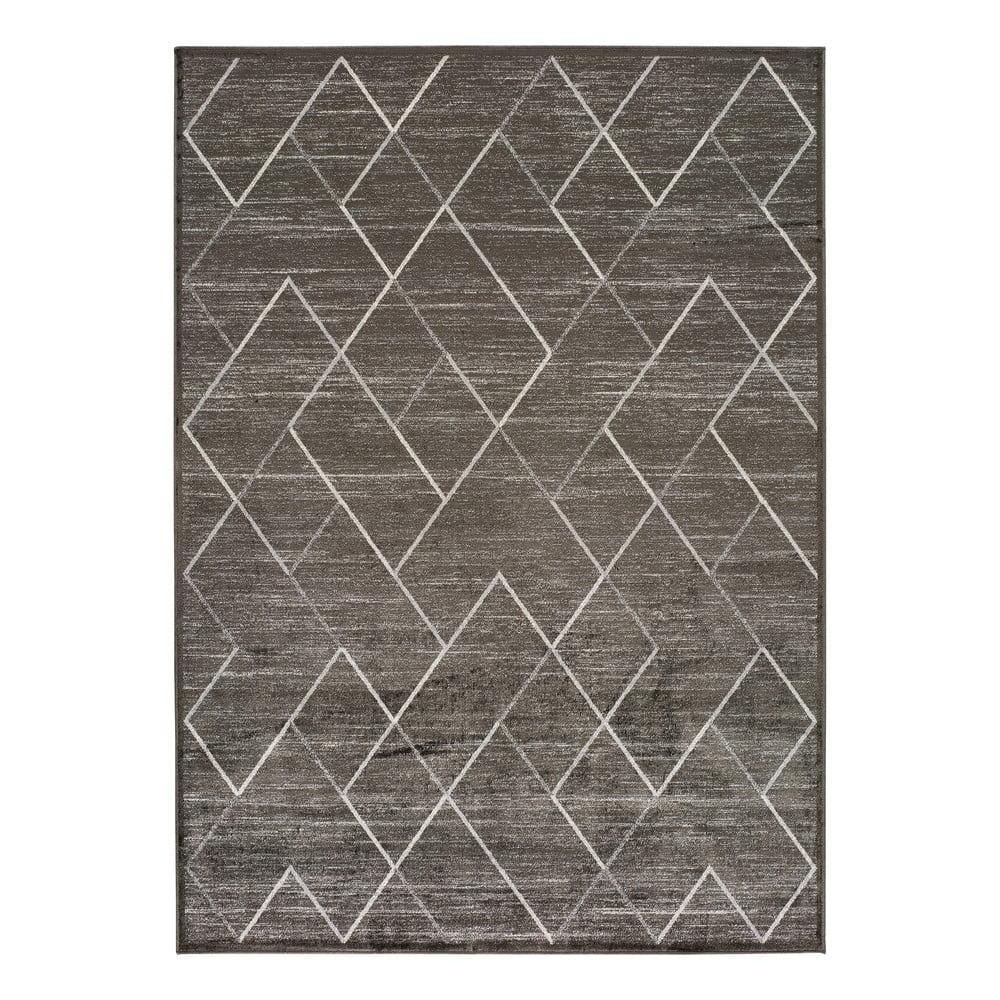Šedý koberec z viskózy Universal Belga, 100 x 140 cm