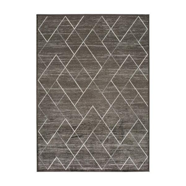 Šedý koberec z viskózy Universal Belga, 70 x 220 cm
