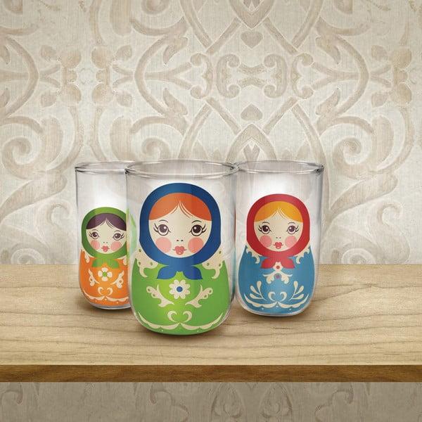 Sada 3 skleniček Fred & Friends Babushkups