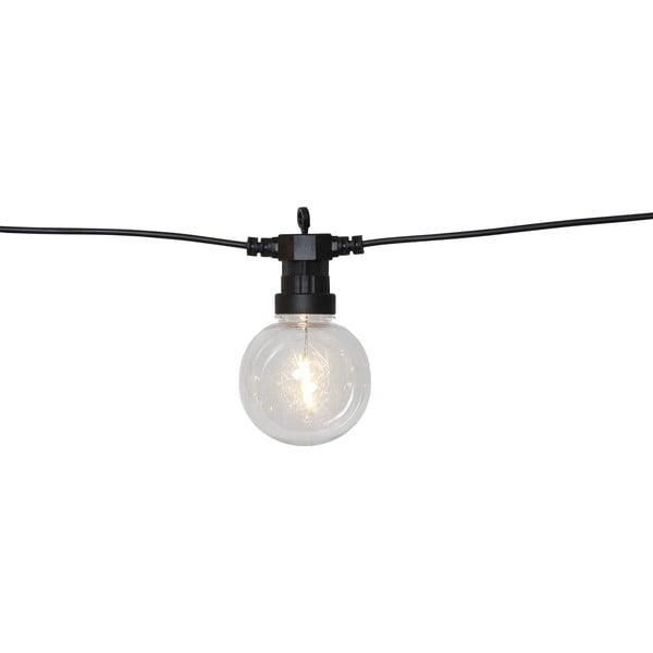 Čierna vonkajšia svetelná LED reťaz Best Season Big Circus Filament