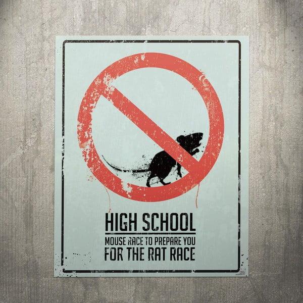 Cedule High School, 56x45 cm
