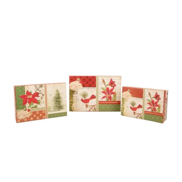 Sada 3 úložných krabic Christmas