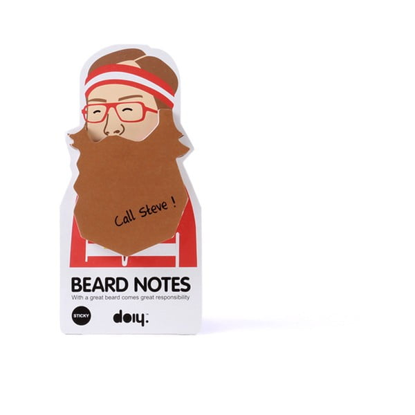 Sada 3 lepících bločků Beard Notes