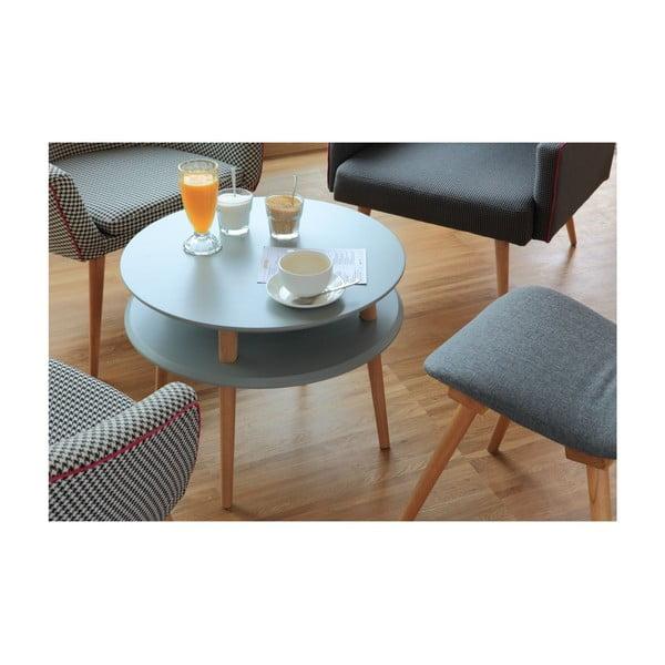 Světle šedý konferenční stolek Ragaba UFO,Ø45 cm