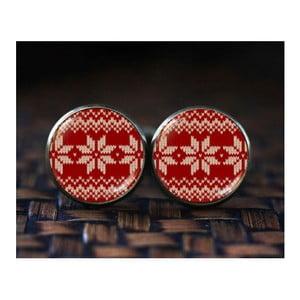 Sada 2 manžetových knoflíčků Butoni de Camasa Red Passion Xmas