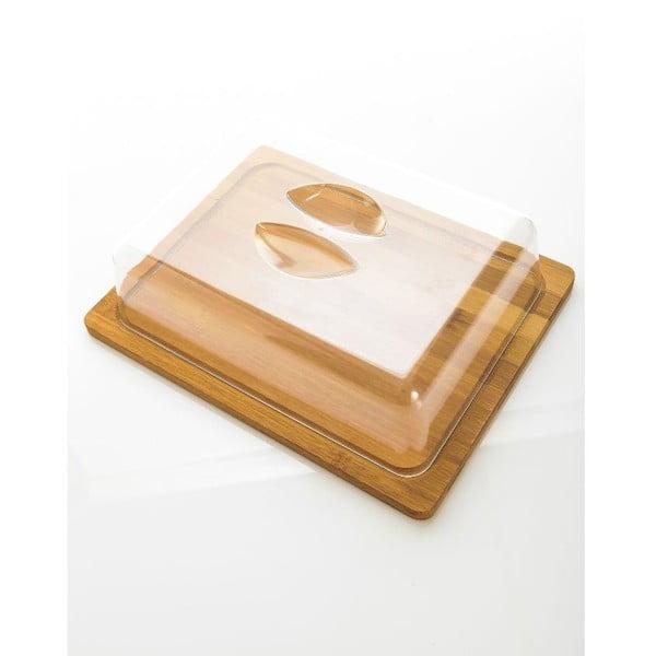 Máslenka s bambusovou miskou Bambum Almendro