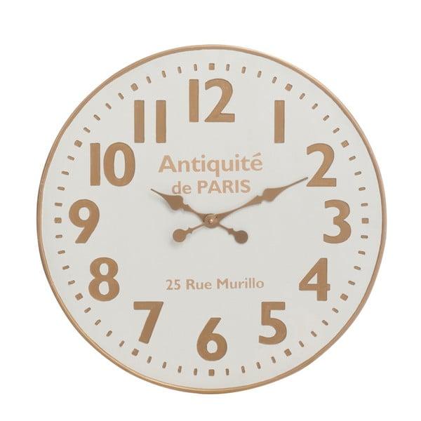 Nástěnné hodiny J-Line, bílá/béžová