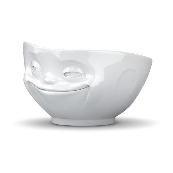 Usměvavá miska, bílá z kavárny U Kubistů