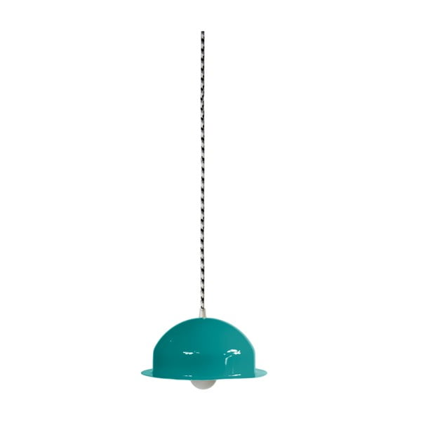 Stropní světlo Steel Pendant, tyrkysové