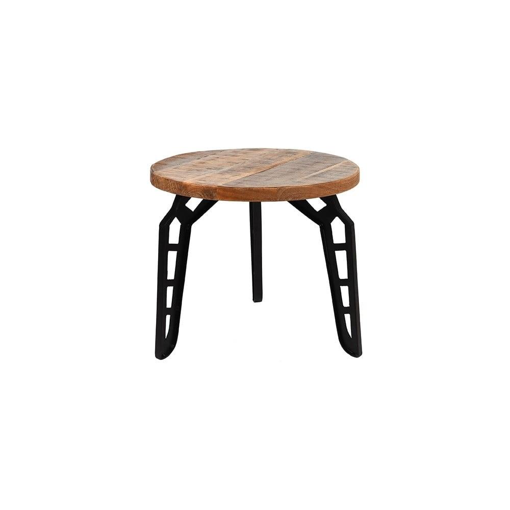 Odkládací stolek s deskou z mangového dřeva LABEL51 Flintstone, ⌀ 45 cm