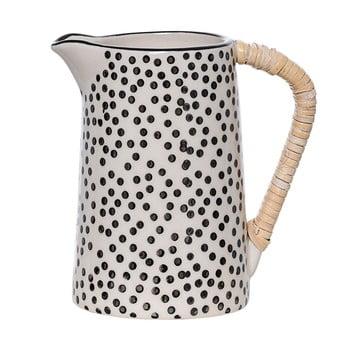 Cană din ceramică pentru lapte Bloomingville Julie, negru – alb de la Bloomingville