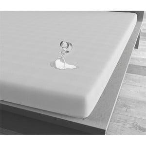 Bílé voděodolné prostěradlo Sleeptime, 90x200 cm