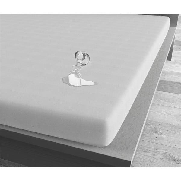 Bílé voděodolné prostěradlo Sleeptime, 80x200 cm