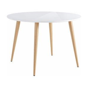 Lesklý bílý jídelní stůl Støraa Canton