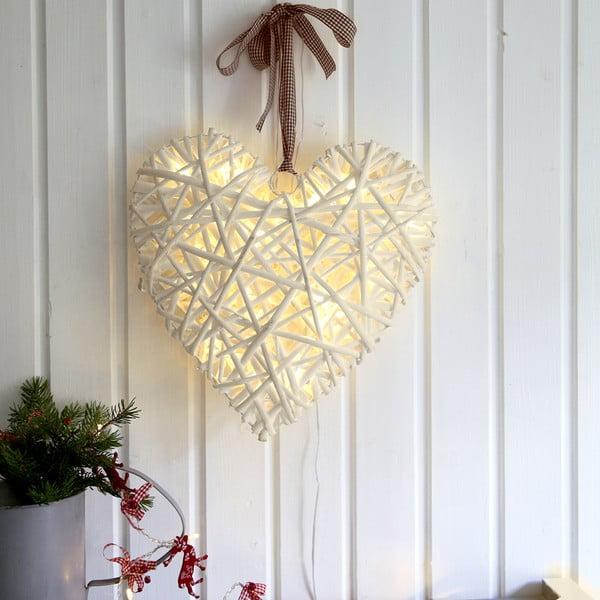 Svítící LED dekorace Best Season Beige,35cm