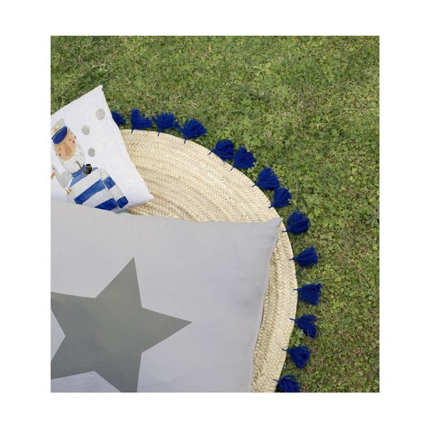 Dětský polštář na hraní Little Nice Things Star, 80 x 60 cm