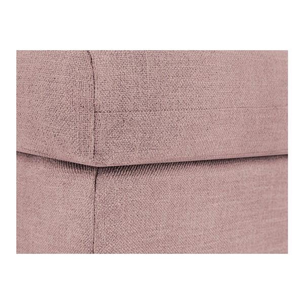 Růžová podnožka Mazzini Sofas Iris