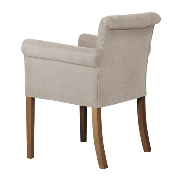 Bílá židle s tmavě hnědými nohami z bukového dřeva Ted Lapidus Maison Flacon