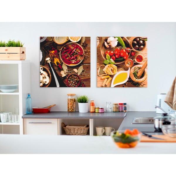 DIY set na tvorbu vlastního obrazu na plátně Artgeist Spices, 80x40 cm