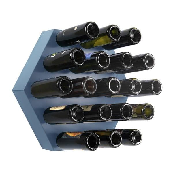 Stojan na víno Hexagon Maxi, modrý