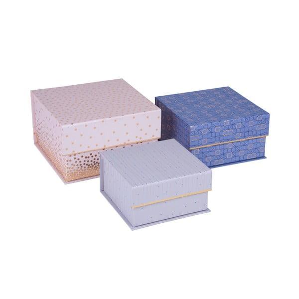 Sada 3 ks magnetických čtvercových boxů Tri-Coastal Design Sky and Glitters