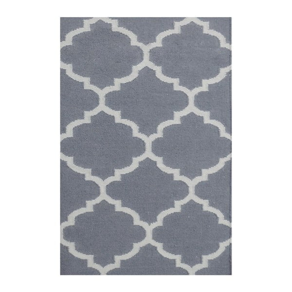 Vlněný koberec Elizabeth Grey, 90x60 cm