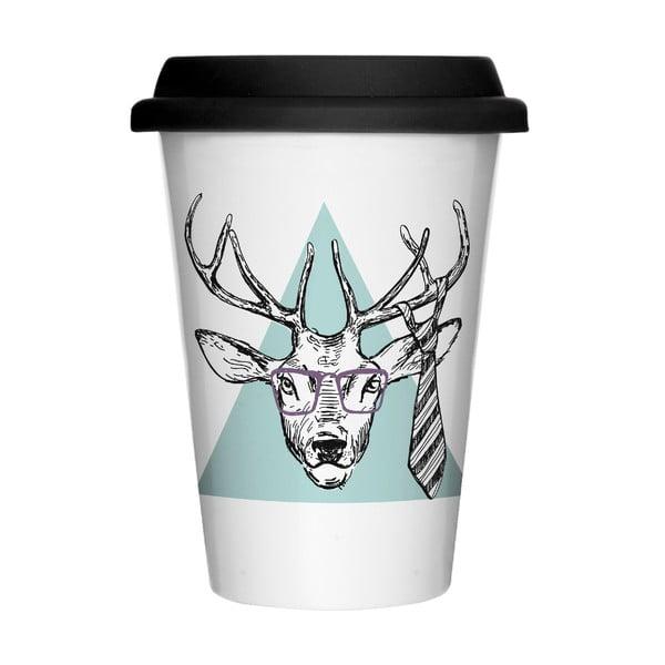 Porcelánový hrnek na cesty We Love Home Hipster Deer, 400 ml