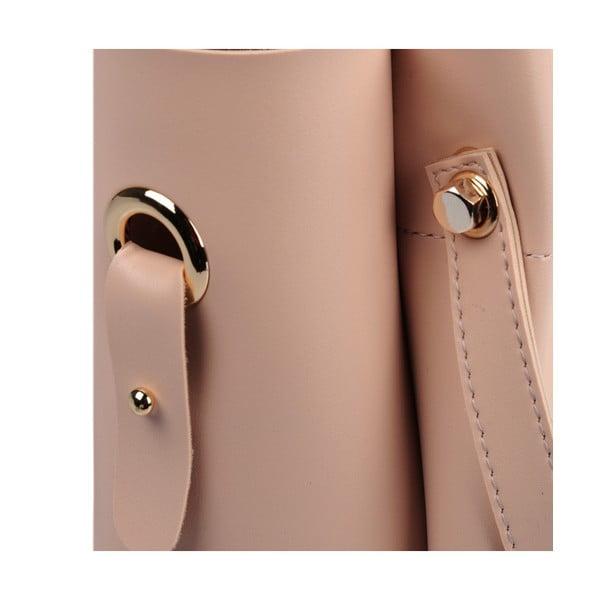 Pudrově růžová kabelka Beverly Hills Polo Club Amy