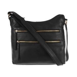 Dámská kožená taška Valentina Black Small Hobo