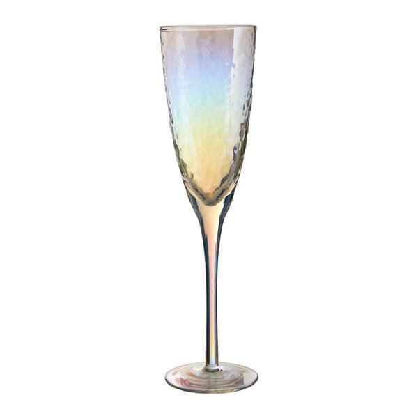 Sada 4 sklenic na šampaňské Premier Housewares Hammered, 260 ml