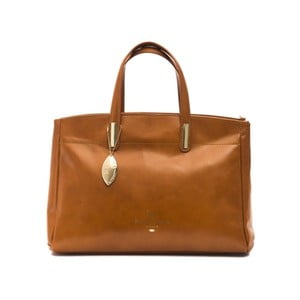 Koňakově hnědá kožená kabelka f.e.v. by Francesca E. Versace Rastuna