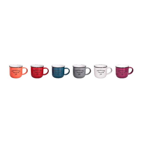 Zestaw 6 kubków ceramicznych Antic Line Cappuccino