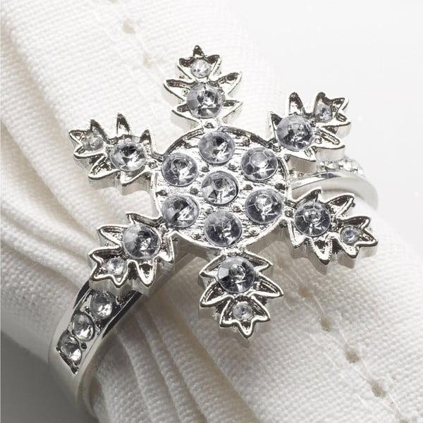 Sada 4 prstenů na ubrousky Neviti Snowflake