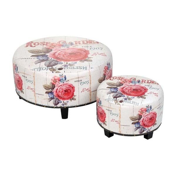 Set stoliček White Roses, 2 ks