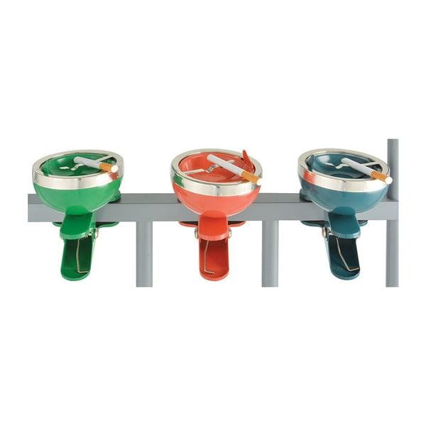Sada 3 popelníků na zábradlí Esschert Design Happy