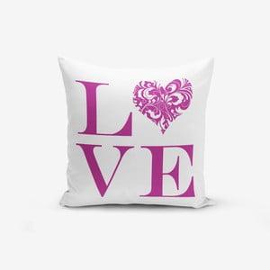 Povlak na polštář s příměsí bavlny Minimalist Cushion Covers Love Purple,45x45cm