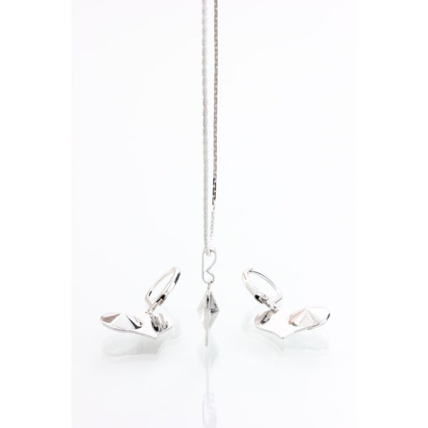Set náhrdelníku a náušnic se Swarovski krystaly Yasmine Pure Heart