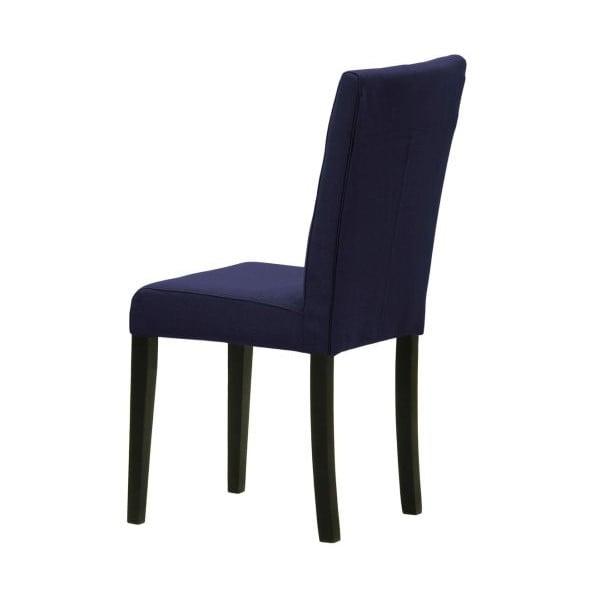 Sada 2 židlí Monako Etna Dark Blue, černé nohy