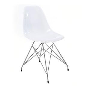 Bílá jídelní židle Canett Crystal