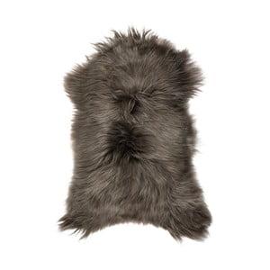 Šedohnědá ovčí kožešina s dlouhým chlupem Arctic Fur Ptelja, 100x60cm