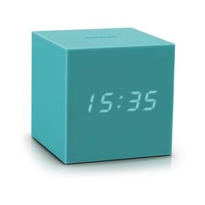 Ceas deșteptător cu LED Gingko Gravity Cube, turcoaz