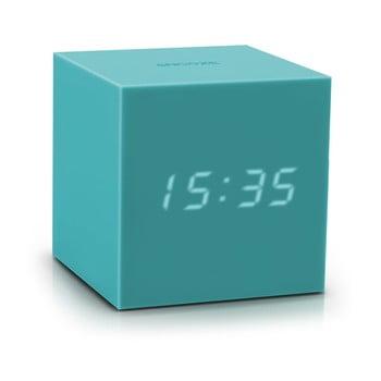 Ceas deșteptător cu LED Gingko Gravity Cube, turcoaz de la Gingko