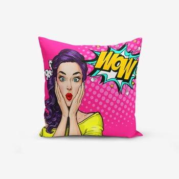 Față de pernă cu amestec din bumbac Minimalist Cushion Covers Pop Art Wow, 45 x 45 cm