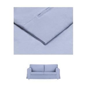 Modrý povlak na rozkládací trojmístnou pohovku THE CLASSIC LIVING Morgane