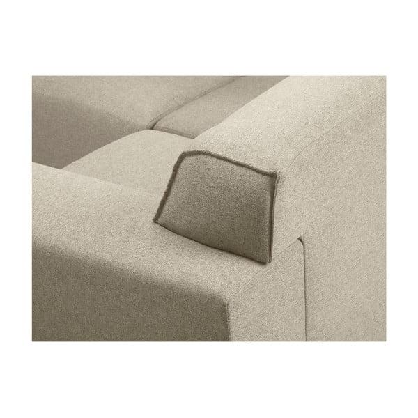 Béžová rohová čtyřmístná pohovka Cosmopolitan Design Seville, levý roh