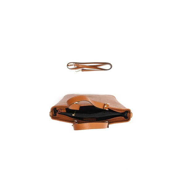 Kožená kabelka Damien 432 Cognac