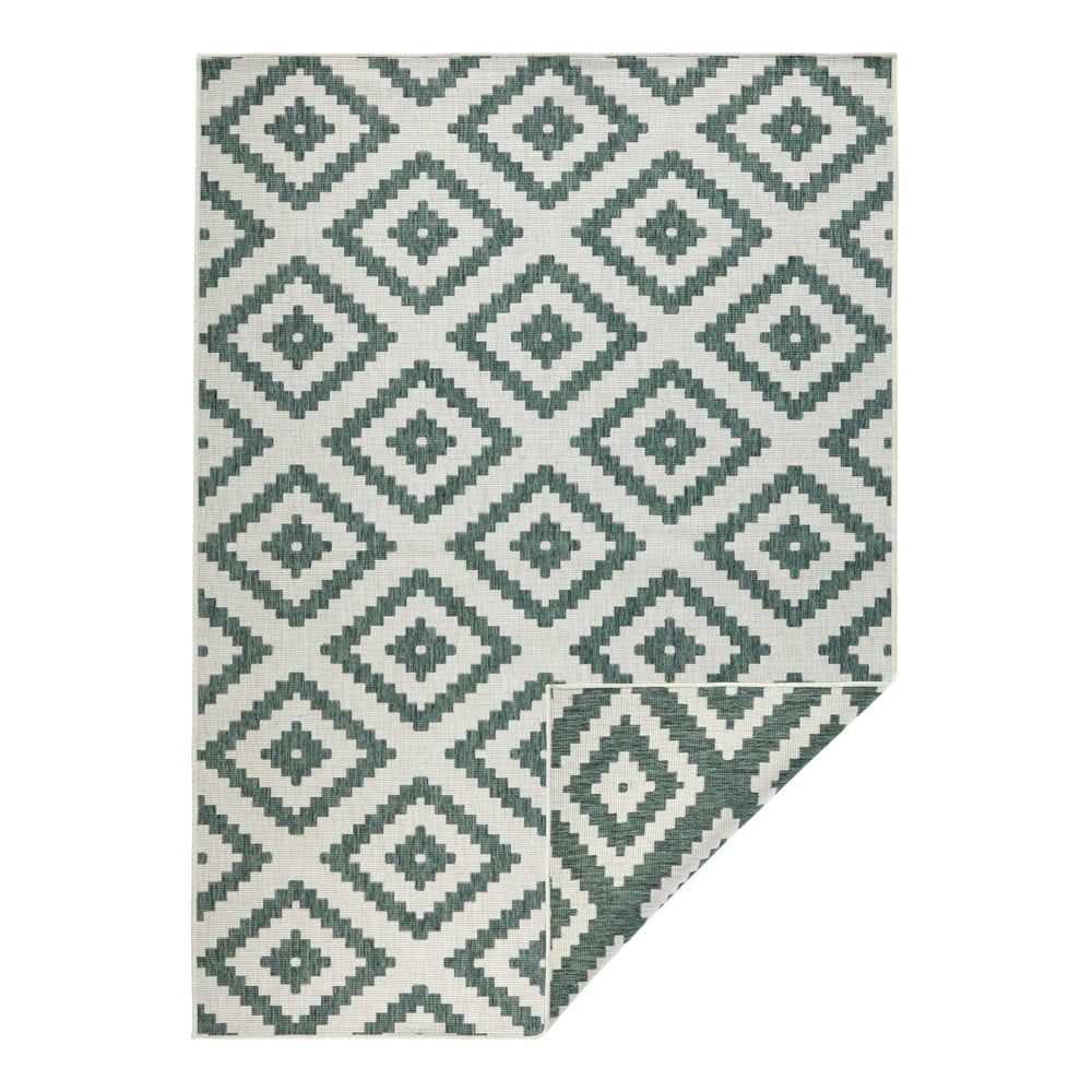 Zeleno-krémový venkovní koberec Bougari Malta, 80 x 150 cm