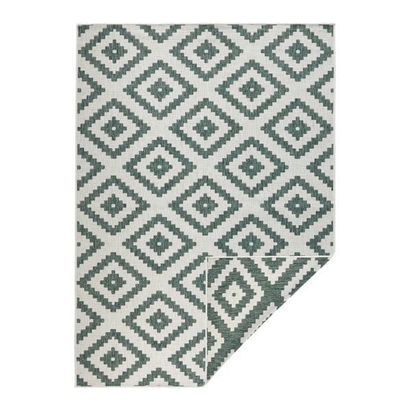 Zielono-kremowy dywan odpowiedni na zewnątrz Bougari Malta, 120x170 cm