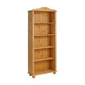 Hnědá knihovna z masivního borovicového dřeva Støraa Ella