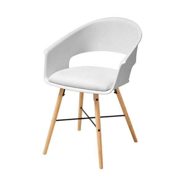 Białe krzesło z konstrukcją z drewna bukowego Actona Iwar